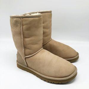 UGG Australia 5825 Classic Short Slip On Boot Sand